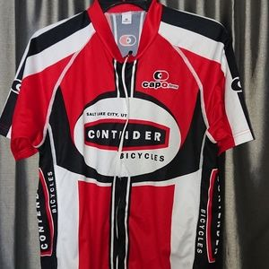 Cycling jersey mens XXL Contender bicycles red